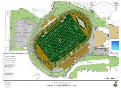 Aerial view drawing of Peabody Stadium