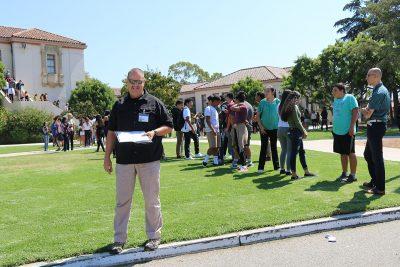 Kelly Moore, Safety Coordinator at Santa Barbara High School Safety Drill